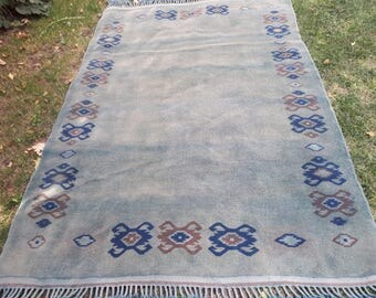 "Oushak Turkish Rug,Turkish Rug, Vintage Rug, Decorative Rug, Handwoven Rug,Bohemian Rug,Area Rug,Office Rug,5'3""x7'8"",162x235cm"