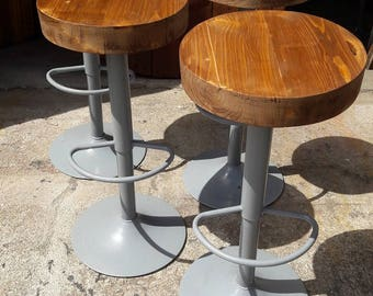 Lot 4 bar stool industrial loft workshop