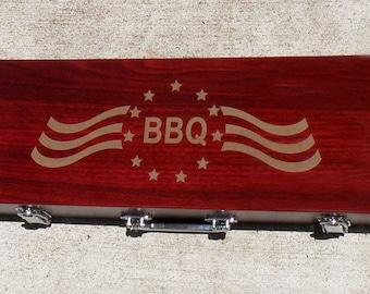 Patriotic Rosewood BBQ Gift Set