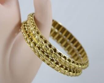 22k Yellow Gold Double Fused Bangle Bracelet 38.9g