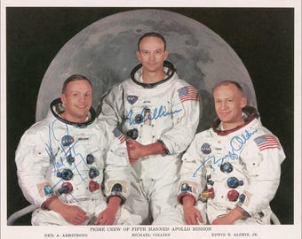 Apollo 11 signed autograph print
