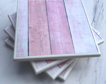 Rose Wood Coasters