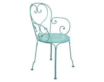 French outdoor 1900 chair - vintage Fermob patio chair