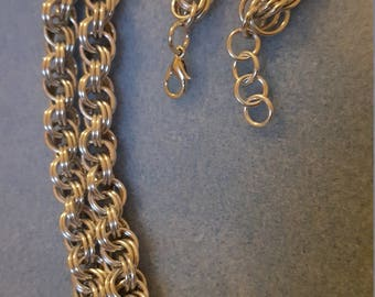 Double Spiral Chainmaille Necklace