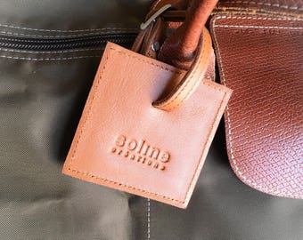 Name luggage leather