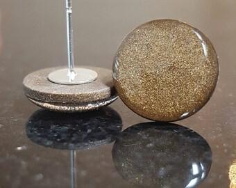 Burnt Umber Gold Shimmer Studs