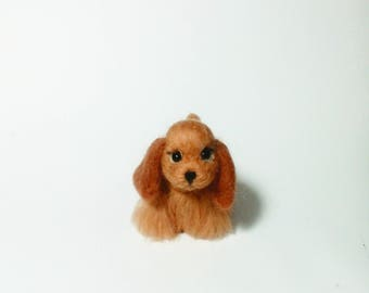 Needle dog Felted dog Soft sculpture Needle felted dog Needle felt dog Dog sculpture toy Felt pet Needle felted animal Wool toy