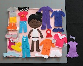Pocket Felt Dress up Doll