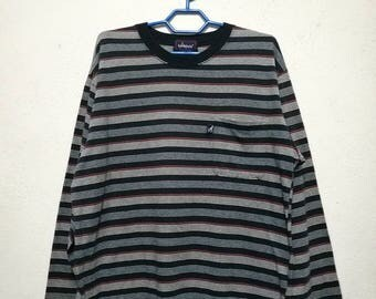Vintage Kangol England Long Sleeve Stripe Striped T-shirt