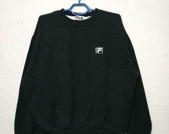 Vintage Fila Small Logo Sweater Sweatshirt