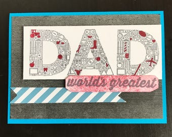 """Father's Day """"Dad"""" Card 