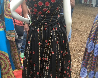 Handmade african print  infinity dress