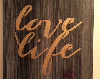 Love Life Canvas