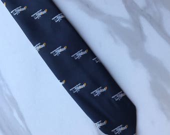 Brooks Brothers Airplane Aviator Navy Blue Men's Tie