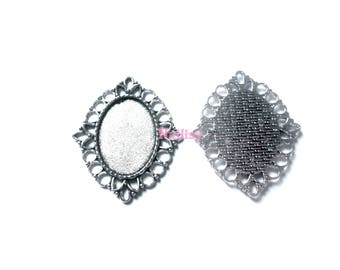 Set of 4 holders for REF1585 18x25mm cabochons