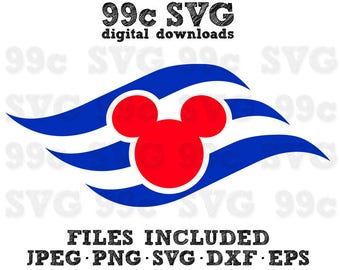 Disney Cruise Logo SVG DXF Png Vector Cut File Cricut Design Silhouette Cameo Vinyl Decal Disney Party Stencil Template Heat Transfer Iron