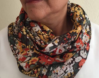 Floral Accent Infinity Scarf