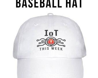 IOT This Week White Baseball Hat