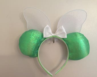 "Minnie Mouse ""Timkerbell"" ears with wings"