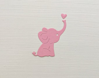 Elephant Die Cuts With Hearts