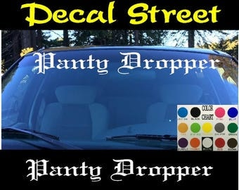 Panty Dropper Decal Etsy - Funny decal stickers for carsdetails about panty dropper decal funny car vinyl sticker euro jdm