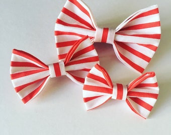 Candy Cane | Christmas | Red & White | Bow Tie