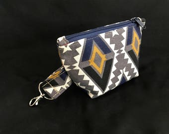 Cosmetic bag * diamonds * make-up bag size S with carabiner * diamonds * beauty case