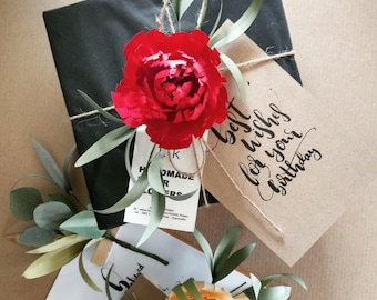 Paper Flower Gift Wrapping