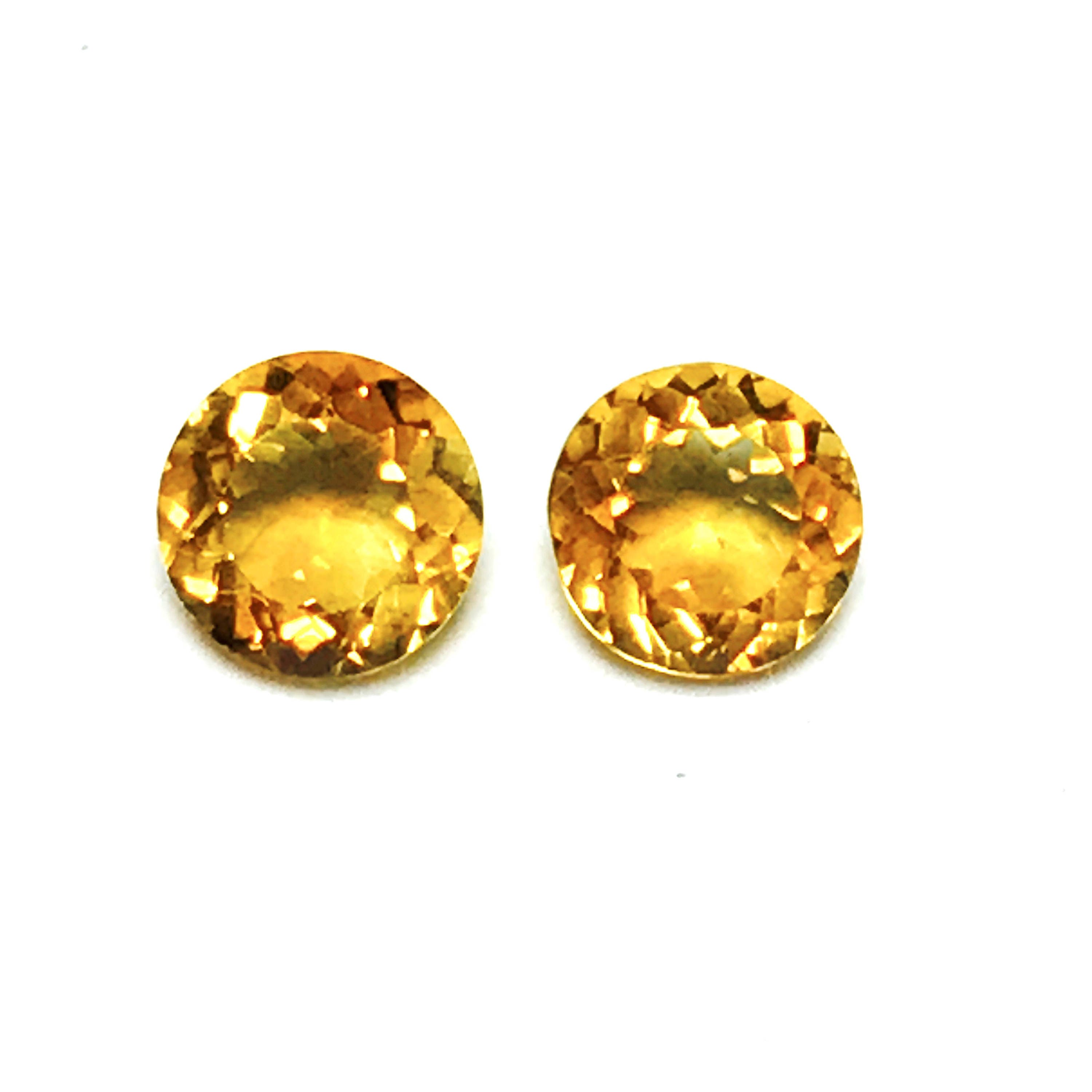 7 mm pair round citrine natural citrine faceted loose citrine high sold by gemartltd biocorpaavc Image collections