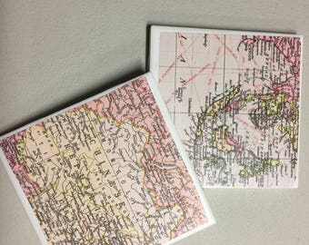 Set of 4 Map Coasters