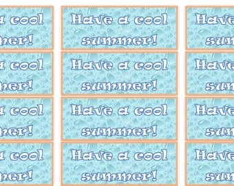 Have a cool summer Gift tags