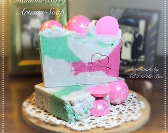 GLAMOUR BERRY - Artisan Soap - sweet strawberry -  handmade *Vegan friendly