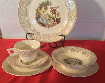 Vintage  trumph American  Limages china D 'Or