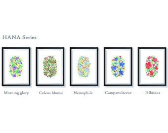HANA Series Illustration Art Print Wall Artwork by UD Misi (30 X 40 CM) 11.81 in. by 15.75 in. - Unframe