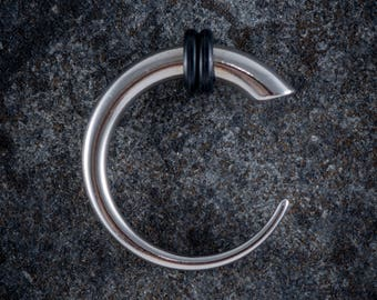 316L Surgical Steel Curved Ear Expander