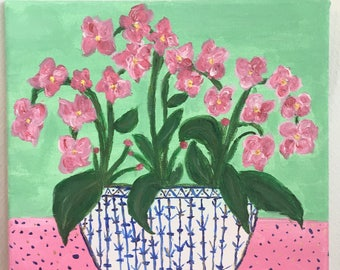 Asian Orchid Painting