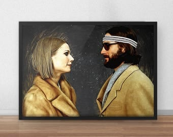Margot and Richie - Margot and Richie poster - Margot and Richie print - Wes Anderson - Wes Anderson print - The Royal Tenenbaums