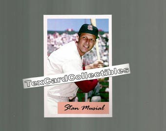 Stan Musial St. Louis Cardinals  New, Custom Made 1954 Bowman Style Baseball Card.  3 3/4 x 2 1/2.  Mint Condition.