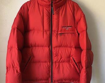 Vintage Ralph Lauren Polo Sport goose down jacket red large
