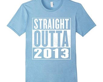 Kids 3rd Birthday Gift T-Shirt Straight Outta 2013 For Kids