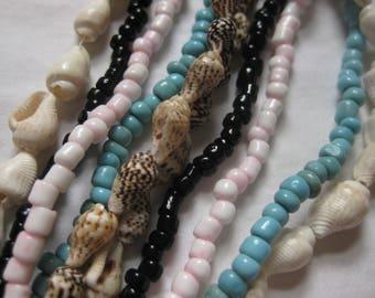 Extra long Beach resort multi strand beaded Necklace