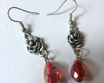 Silver Lining Rosette Earrings