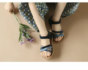 Twist Leather Sandal