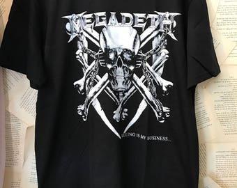 Megadeath band tee