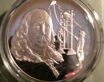 Benjamin Franklin - Sterling Silver History of Science (Proof)