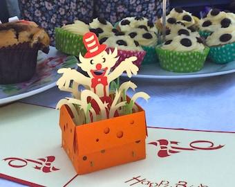 Clown Pop Up Card - Pop Up Clown Card - Pop Up Clown Birthday Card