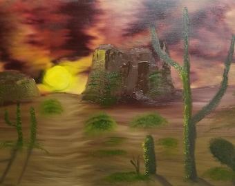 Sunset in the Desert Print