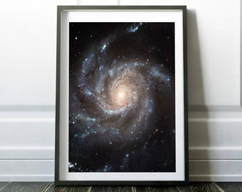 Galaxy print  / Space poster /Space print / Galaxy art / Universe print / Outer space art / Nasa poster / Space art  / Hubble telescope