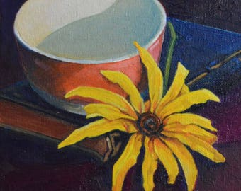 Black-Eyed Susan with Bowl