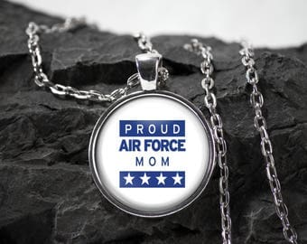 Air force mom Glass Pendant military necklace air force mom jewelry air force gift photo pendant art pendant photo jewelry glass jewelry